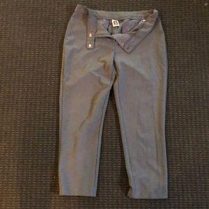 Pleated grey slacks